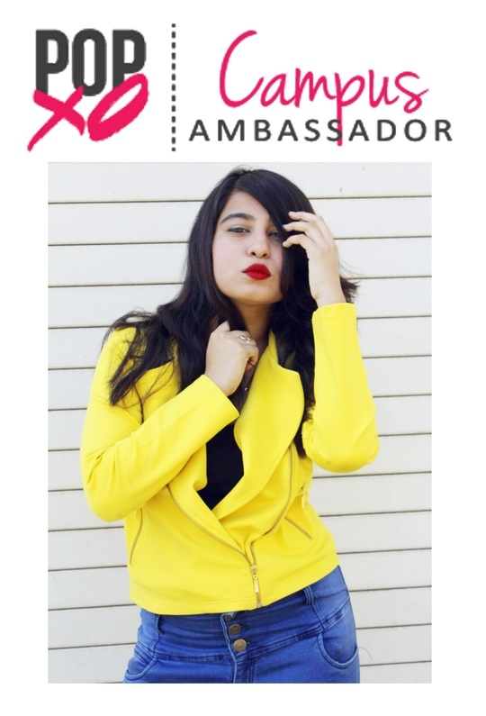 I'm a POPxo Campus Ambassador ❤️❤️❤️