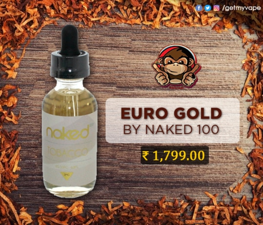Euro Gold by Naked 100 Tobacco is an exceptional smooth body tobacco blend with a flavor profile that has been painstakingly handcrafted to create the smoothest tobacco vape that truly showcases tobacco's finest notes. Order now: http://bit.ly/2hJaKFc #QuitSmoking #StartVaping #GetMyVape