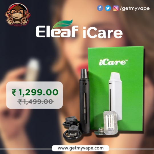 """The Eleaf iCare looks like a vaping device that uses pods, but it is most certainly not a """"closed-system device."""" While several companies are releasing """"pod vapes"""" in order to try to appease the FDA in America, Eleaf has served up a simple vaping device that's aimed at beginners and allows them to use any e-liquid. Here's a closer look at the Eleaf iCare. Order it now: http://bit.ly/2sVg5i1 #QuitSmoking #StartVaping #GetMyVape"""