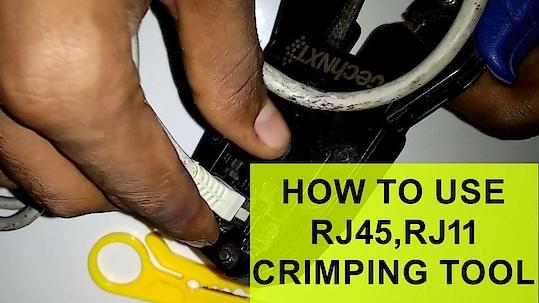 How to Use  RJ45 RJ11 Crimping Tool