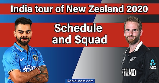 India tour of New Zealand 2020: Schedule and Squad India tour of New Zealand 2020 - Who'll emerge the better competitor and who'll subdue the opponent in another brand new series. Read more-https://rapidleaks.com/sports/cricket/india-tour-of-new-zealand-2020-schedule-squad/ #roposo #roposostars #roposomasti #roposomorning #sports #cricket #cricketlovers