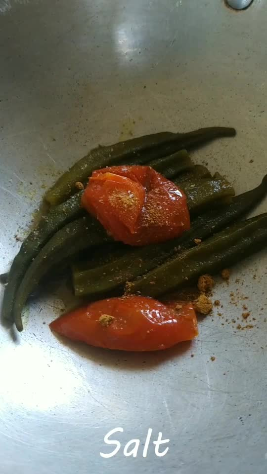Okra with tomato. #foodblogger