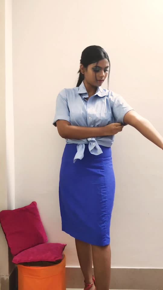 Turning boring office outfit into a fun outfit. #outfitoftheday #fashionquotient #fashionaddict