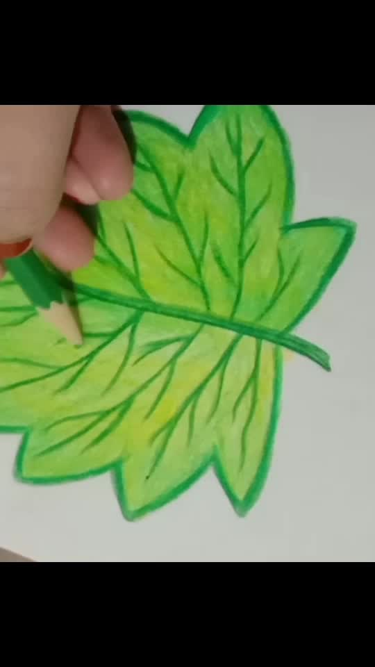 leaf drowning.. by pencil color