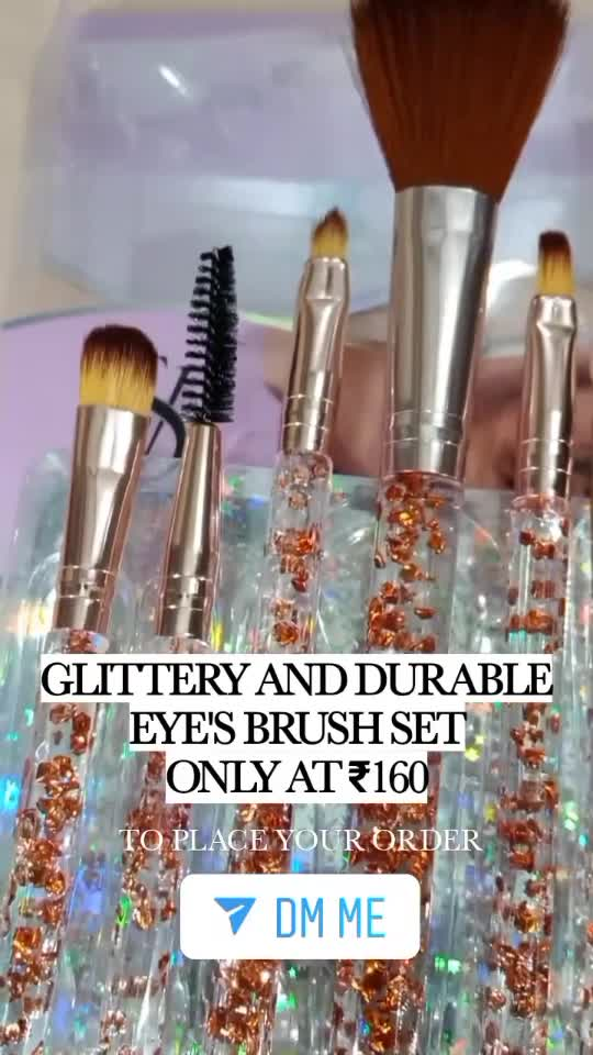 Glittery and Durable eye's brush set only at ₹160 hurry up soon guys whatsapp or call#9599694611 .. #brushes  #makeupbrushes  #grabit #sales  #lipsticklovermatte  #lipstickaddict  #palettes  #instafamous  #lashesonfleek #roposo  #makeupdiva  #makeupobsession  #facemask  #completeactor  #makeupartistworldwide  #instabeautyblog   #instamakeupofficial  #instamakeup  #liplove  #glossylips  l #glossylips#makeuptutorial  #nyxcosmeticsindia  #primers  #mascaragirl  #mascara  #makeupcollection  #makeupartistindelhi  #instamakeupindia