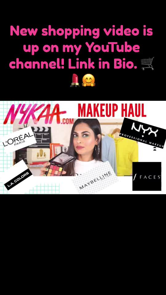 New makeup shopping video is now up on my YouTube Channle. You can check it out here https://youtu.be/aX5iXB8FRb0  Don't forget to subscribe!! ☺️❤️💄 #makeup #nykaa #nykaahaul  #drugstoremakeup #shopping