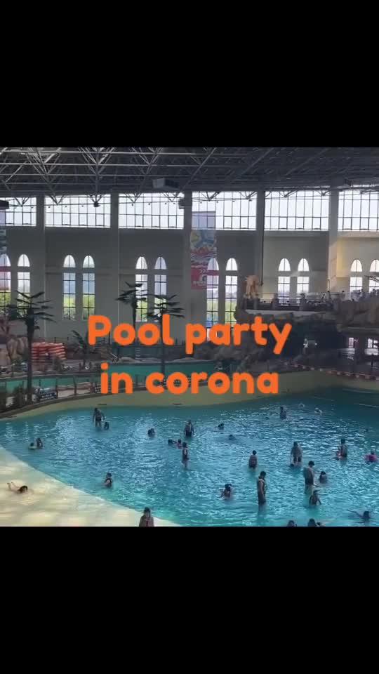 Pool party in corona #corona vurus #corona #india #china