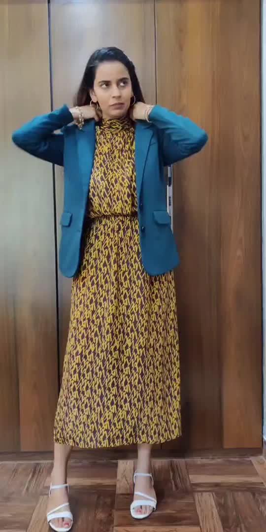 Styling my zara dress with blazer #styleblogger #zara #reposeindia #repeated