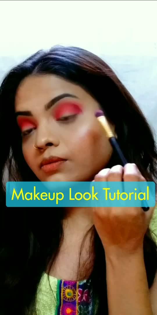 Contrast Makeup Look 💙❤️ #roposo #roposostar #risingstar #makeuplover