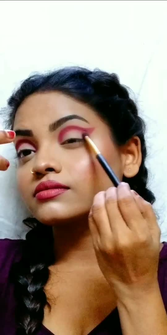 Cat Eye Soft Makeup...❤️ #makeuptutorial #makeuplover #roposostars #risingstarschannel #beginnersmakeup