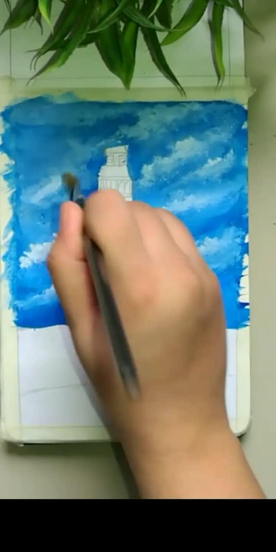 Lighthouse.  #creativeminds #watercolour #watercolourpainting #watercolourpaint #painting #art #artist #lighthouse