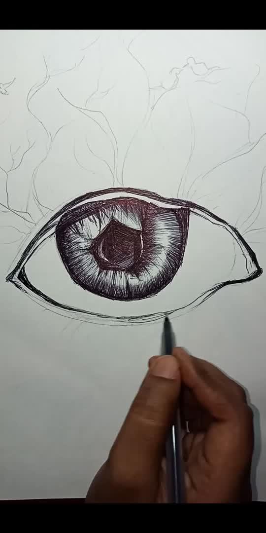 Ball pen art of a creative 👀  #roposostars