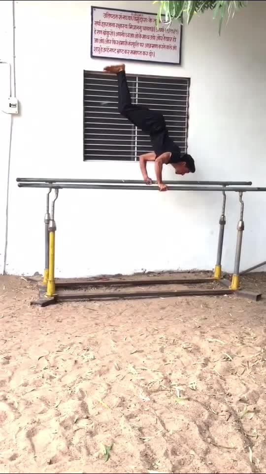 Handstand On Parallel Bars  #gym #handstand #balance #grow #viral #risingstaronroposo