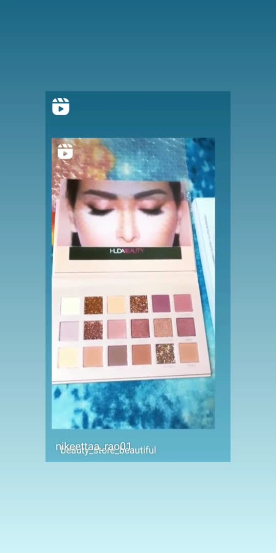 huda beauty eyeshadow palette 🎨 to buy follow🎨💯 we have all brands cosmetic products in ur budget💯♥️💄💯🎨 if u want any cosmetic products plzz do know me # makeup # #lipsticklove #eyeshadow