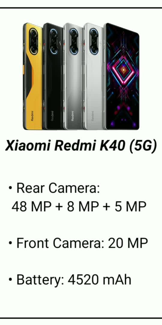 Redmi K40 5G #technology  #tech  #technical  #smartphone #hindi  #5gtechnology  #youtuber  #trending  #viral  #hot  #gadgets #followme  #information #roposo #roposostar #best #technews #xiaomiindia #redmi
