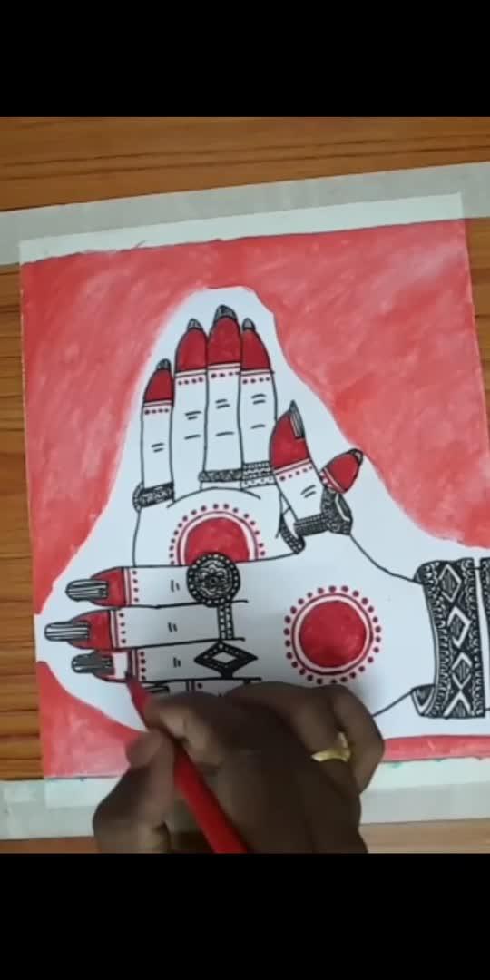 Hasta mudra drawing@mandalaart..video2#roposocreativespacechannel   #roposoindiaofficial  #roposoartists  #roposolookgdfeelgoodchannel