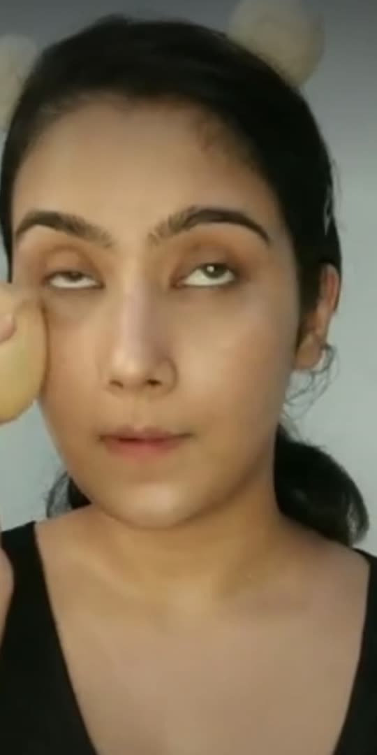 Bronzy eyes with mid glitter  #makeup #makeupvideo #roposocreator