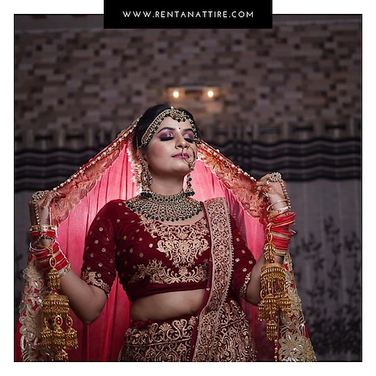 Rent this beautiful bridal lehenga at www.rentanattite.com or visit our store located in Warje, Pune. Call us on 7722009477 for more details.  #rentanattire #bridalwear #intimatewedding #sustainablefashion #makeinindia #rentalfashion #weddingseason #whybuywhenyoucanrent #elegance #weddingbells #jewelleryonrent #rentthelook #fashiononrent #bridetobe #dmfororders #bliss #fashionrevolution #fashionindustry #onlinestore