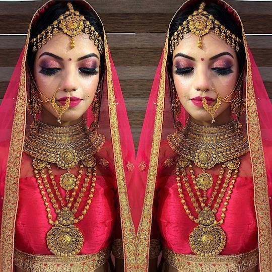 #indianbride #makeuplook #weddingday #bookusnow #theshadesbride  Call 9599678798