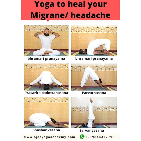 Yoga for migraine/ headache  -——-—---------- There are many techniques and  remedies to heal this problem naturally here we mention simple postures to heal or prevent #headache #migraine   *Note: Learn and practice yoga by guidance through your yoga teacher or #guru .  #yoga for diseases Module - 3 by @yogabandu_prashanth #ojasyogaacademy    #yogaforheadaches #yogaformigraine #yogaforhealing  #yogapractice  #selfcare #selflove #selfhealing  #yogablogger #yogabandhuprashanth #practicedaily #instayoga #yogatips #easyyoga #staypositive  #behealthy @ministryofayush @thedailykelsey @who