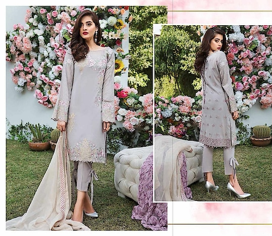 Imrozia Lawn Embroidered suits with pure Chiffon dupatta  call or WhatsApp on 9711299385 to place orders