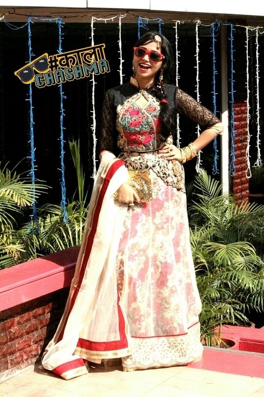 Look how I went Kala Chamsa style in my new blog. Also new wedding outfit ideas - http://wp.me/p6k8c6-vb ❤ ft. Peachmode.com  #lehengalife @roposotalks #sproposo #traditionalwear #wedding #kalachasma #indianoutfit #traditional #ethnic #fashionblogger #ootd #lehenga #mumbai #ethnicwear #kaalachashma #photoshoot #indianwedding #black #hair #fashionstyle