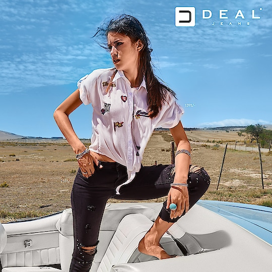 Patches and rips are making a perfect combo this season! #DealJeans