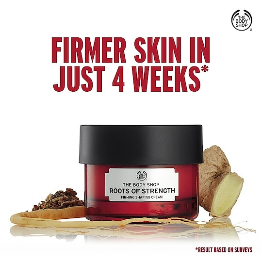 Unveil your skin's strength and firmnessin four weekswith the new Firming Shaping Day Cream which is infused with the goodness of three potent roots and Community Trade Soya Oil. Skin feels moisturized, denser and hydrated with the use of this rich yet non-greasy moisturizer. Try now: https://www.thebodyshop.in/ #RootsOfStrength