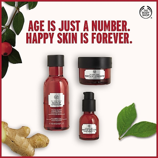 Our all-new #RootsOfStrength range, rooted in nature and inspired by Traditional Chinese Medicine is specially formulated for women over 45. Bid goodbye to wrinkles, uneven skin tone and fine lines forever. Powered by three potent roots, this rage promises to firm and shape your skin after continuous use of four weeks. Shop now:https://www.thebodyshop.in/