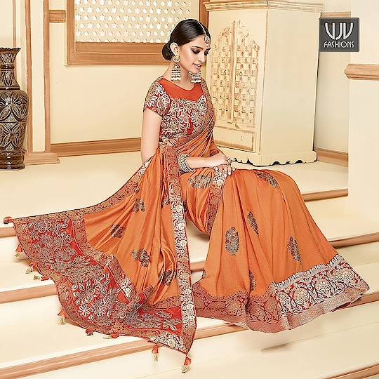 Buy Now @ https://bit.ly/3carhuo  .    Marvelous Orange Color Silk Designer Classic Saree . Fabric - Georgette, Net   .   Product No 👉 VJV-ALAN11034  .   #saree #sarees #designersaree #weddingsaree #bridalsaree #silksaree #banarasisarees #netsaree #ethnicsaree #partywearsaree #embrioderysaree #weddingwearsaree #sareeforreception #printedsaree #floralprintedsaree #borderworksaree #casualsaree #halfandhalfsaree #bridalwearsaree #lehengastylesaree #traditionalsaree #cottonsaree #latestsarees